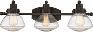 Quoizel SCH8603PN Scholar Modern Palladian Bronze 3-Light Bath Light Fixture
