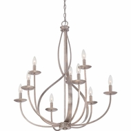 Quoizel SER5009IF Serenity Italian Fresco Finish 30  Wide Chandelier Lighting
