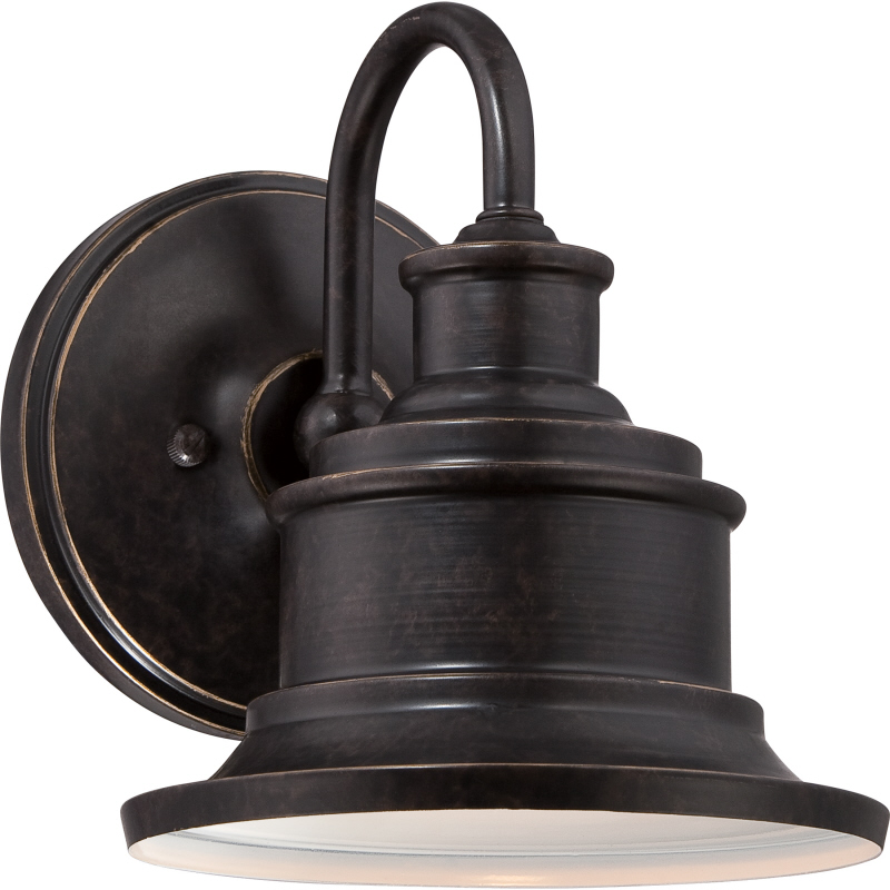 Quoizel sfd8407ib seaford retro imperial bronze finish 8 5 tall exterior wall mounted lamp loading zoom