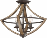Quoizel SHR1716RK Shire Contemporary Rustic Black Overhead Light Fixture