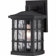 Quoizel SNN8406K Stonington Traditional Mystic Black Finish 6.5  Wide Exterior Wall Sconce Lighting