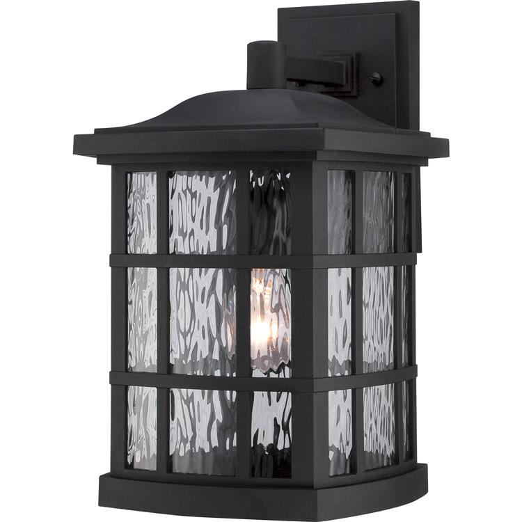 Quoizel snn8409k stonington traditional mystic black finish 9 5 wide exterior wall light sconce loading zoom