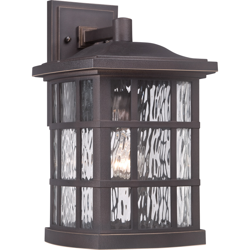 Quoizel snn8409pn stonington traditional palladian bronze finish 15 5 tall exterior light sconce loading zoom