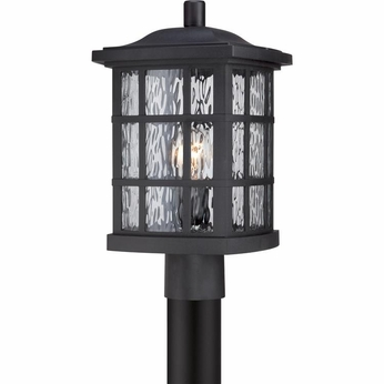Quoizel SNN9009K Stonington Traditional Mystic Black Finish 16.5  Tall Outdoor Lamp Post Light