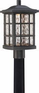 Quoizel SNNL9009K Stonington LED Mystic Black LED Exterior Post Lighting