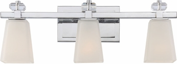 Quoizel SPR8603C Supreme Modern Polished Chrome 3-Light Bathroom Sconce