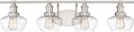 Quoizel STW8604BN Stillwater Modern Brushed Nickel 4-Light Bathroom Sconce
