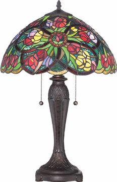 Quoizel TF1868T Tiffany Side Table Lamp