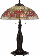 Quoizel TF2600TVA Tiffany Valiant Bronze Table Top Lamp
