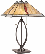Quoizel TF3337TWT Tiffany Tiffany Western Bronze Table Lighting