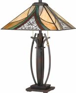 Quoizel TF3342TVA Tiffany Tiffany Valiant Bronze Table Top Lamp