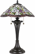 Quoizel TF3456TVB Tiffany Tiffany Vintage Bronze Side Table Lamp