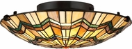 Quoizel TFAT1617VA Alcott Tiffany Valiant Bronze Flush Mount Lighting
