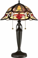 Quoizel TFGD6324VB Garland Tiffany Vintage Bronze Table Lighting