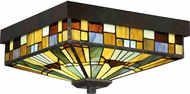 Quoizel TFIK1614VA Inglenook Tiffany Valiant Bronze Flush Mount Light Fixture