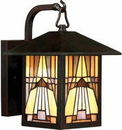 Quoizel TFIK8407VA Inglenook Tiffany Valiant Bronze Outdoor 7  Wall Light Fixture