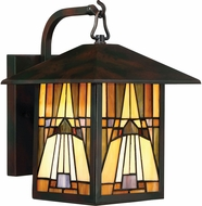 Quoizel TFIK8409VA Inglenook Tiffany Valiant Bronze Outdoor 8.5  Lighting Wall Sconce