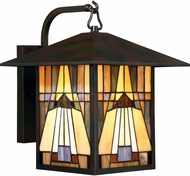 Quoizel TFIK8411VA Inglenook Tiffany Valiant Bronze Outdoor 11  Wall Lighting Sconce