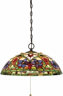 Quoizel TFVT1820VB Violets Tiffany Vintage Bronze Hanging Light Fixture