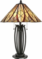 Quoizel TFVY6325VA Victory Tiffany Valiant Bronze Side Table Lamp