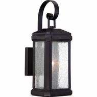 Quoizel TML8405K Trumbull Traditional Mystic Black Finish 5.5  Wide Outdoor Wall Sconce Light