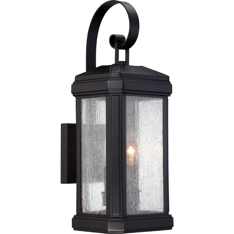 Outdoor wall lamp black outdoor designs exterior wall sconce loading zoom quoizel tml8407k trumbull traditional mystic black finish 18 5 tall mozeypictures Images