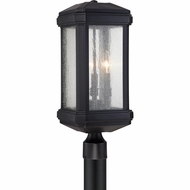 Quoizel TML9008K Trumbull Traditional Mystic Black Finish 21.5  Tall Exterior Post Light