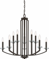 Quoizel TNS5010OZ Transit Contemporary Old Bronze Ceiling Chandelier
