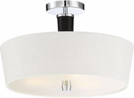 Quoizel TPR1716C Taper Modern Polished Chrome Flush Ceiling Light Fixture