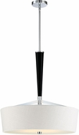 Quoizel TPR2823C Taper Modern Polished Chrome 23  Drum Ceiling Pendant Light