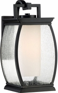 Quoizel TRE8407K Terrace Contemporary Mystic Black Outdoor 7  Wall Light Sconce