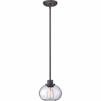 Quoizel TRG1508OZ Trilogy Old Bronze Finish 7.5  Tall Mini Hanging Pendant Lighting