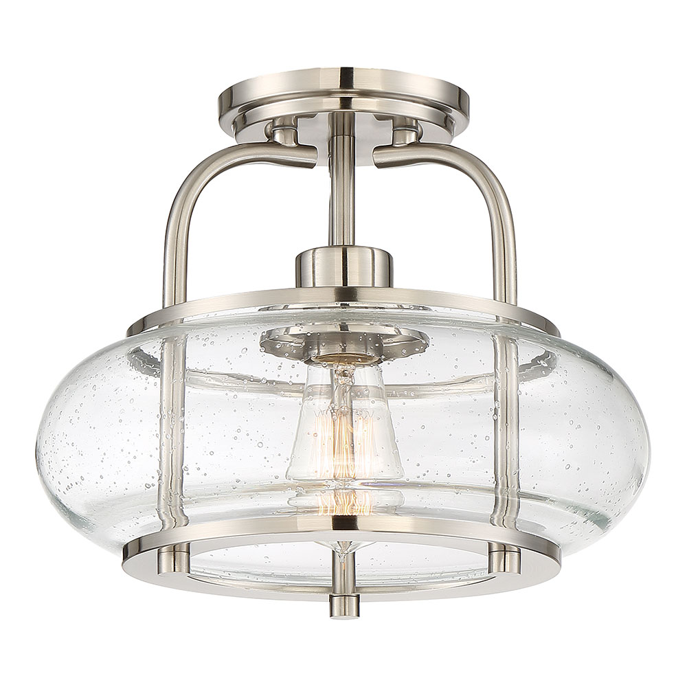 High Quality Quoizel TRG1712BN Trilogy Contemporary Brushed Nickel Fluorescent Flush  Mount Lighting Fixture. Loading Zoom