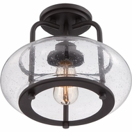 Quoizel TRG1712OZ Trilogy Retro Old Bronze Finish 12 Wide Ceiling Lighting Fixture