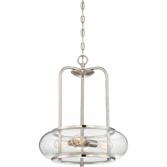 Quoizel TRG1816BN Trilogy Contemporary Brushed Nickel Fluorescent Hanging Light Fixture
