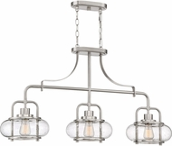 Quoizel TRG338BN Trilogy Modern Brushed Nickel Kitchen Island Light Fixture