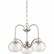 Quoizel TRG5103BN Trilogy Modern Brushed Nickel Fluorescent Mini Chandelier Lighting