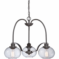Quoizel TRG5103OZ Trilogy Old Bronze Finish 22  Wide Mini Chandelier Light