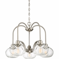 Quoizel TRG5105BN Trilogy Contemporary Brushed Nickel Fluorescent Lighting Chandelier
