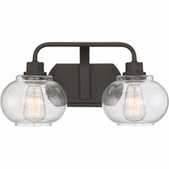 Quoizel TRG8602OZ Trilogy Contemporary Old Bronze Fluorescent 2-Light Bathroom Light Fixture