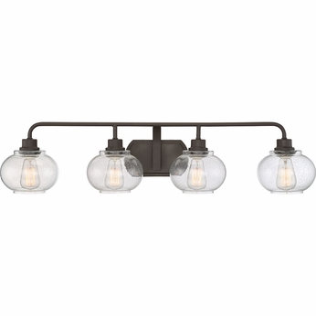 Quoizel TRG8604OZ Trilogy Contemporary Old Bronze Fluorescent 4-Light Bath Sconce