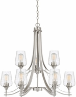 Quoizel TWE5009BN Towne Contemporary Brushed Nickel Chandelier Light