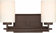 Quoizel TY8602WT Taylor Contemporary Western Bronze 2-Light Bathroom Wall Sconce