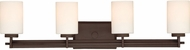 Quoizel TY8604WT Taylor Contemporary Western Bronze 4-Light Bathroom Sconce Lighting