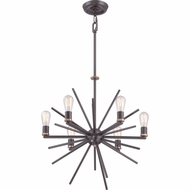 Quoizel UPCN5006WT Uptown Carnegie Contemporary Western Bronze Finish 22.5 Tall Lighting Chandelier