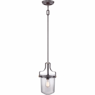 Quoizel UPPS1510WT Uptown Penn Station Western Bronze Finish 10  Wide Mini Hanging Light Fixture