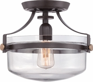 Quoizel UPPS1713WT Uptown Penn Station Retro Western Bronze Flush Mount Lighting