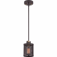Quoizel UST1505WT Union Station Retro Western Bronze Finish 5  Wide Mini Hanging Light