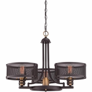 Quoizel UST5003WT Union Station Retro Western Bronze Finish 28  Wide Chandelier Light