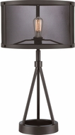 Quoizel UST6127WT Union Station Contemporary Western Bronze Table Top Lamp